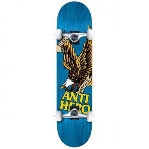 Anti-Hero Rise Above Small - Blue - 7.5 - Complete Skateboard