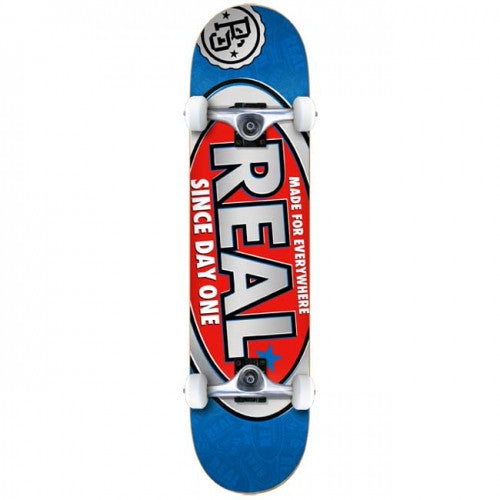 Real Since Day One Mini - Blue/Red - 7.3 - Complete Skateboard