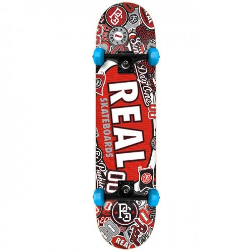 Real Stick Em Up Medium - Red/Blue - 7.75in x 31.25in - Complete Skateboard