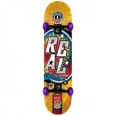 Real Tie Dye Small - Orange/Purple - 7.5in x 29in - Complete Skateboard
