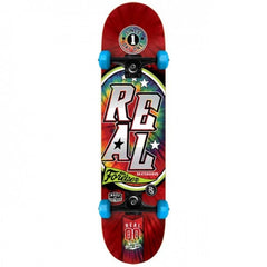 Real Tie Dye Medium - Red/Blue - 7.75in x 31.6in - Complete Skateboard