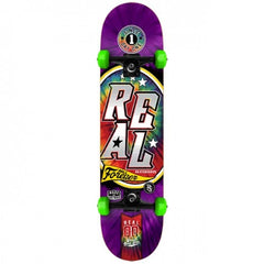 Real Tie Dye Large - Purple/Green - 8.0in x 32in - Complete Skateboard