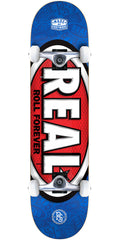 Real Oval Tone Mini - Blue - 7.38in x in - Complete Skateboard