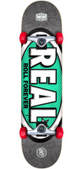 Real Oval Tone - Black - 8.0in x in - Complete Skateboard