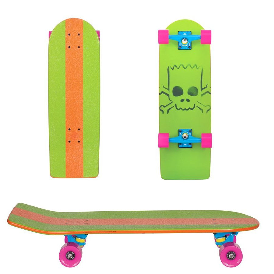 Santa Cruz Skate Simpsons Bart Model Cruzer  - Green/Orange - 8.9in x 27in - Complete Skateboard