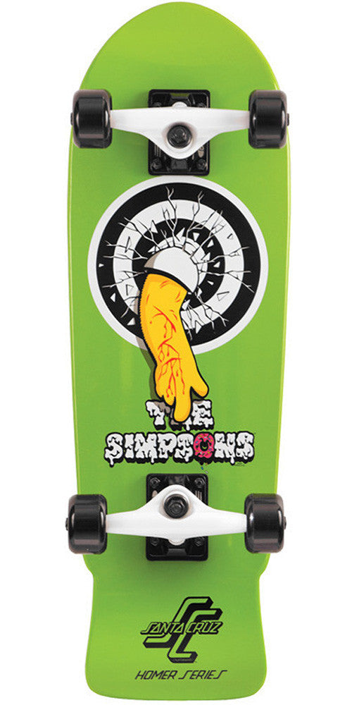 Santa Cruz Simpsons Homer One Micro Cruzer - Green - 8.3in x 26in - Complete Skateboard
