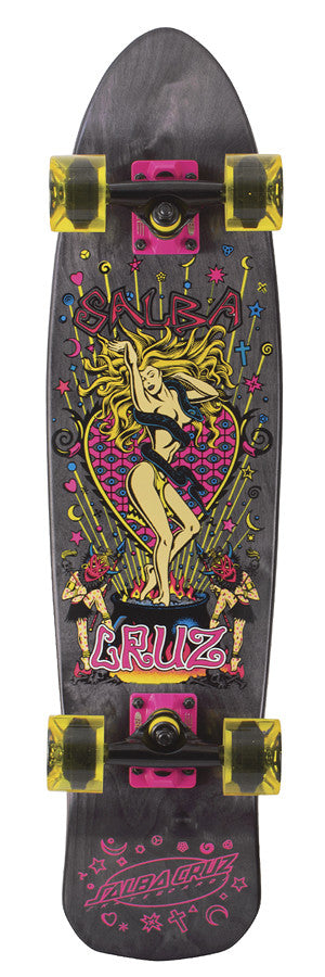 Santa Cruz Salba Witch Jammer Cruzer - Black - 7.65in x 30.5in - Complete Skateboard
