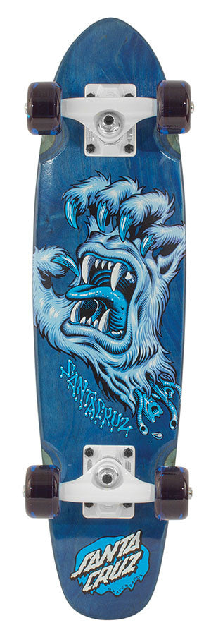 Santa Cruz Yeti Screamer Cruzer - Blue - 6.4in x 25.3in - Complete Skateboard
