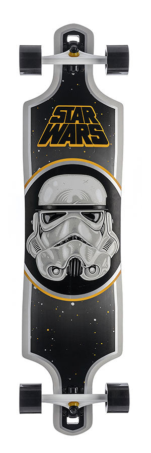 Santa Cruz Star Wars Stormtrooper Drop Thru - Black/White - 10in x 40in - Complete Skateboard