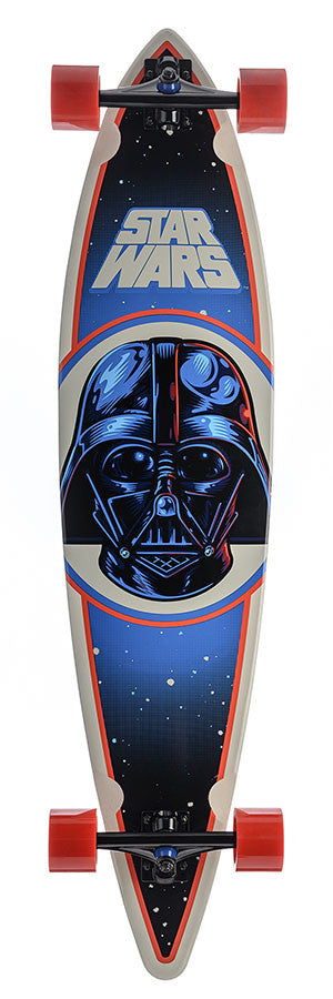 Santa Cruz Star Wars Darth Vader Pintail Cruzer - Black/Blue/Red - 9.9in x 43.5in - Complete Skateboard