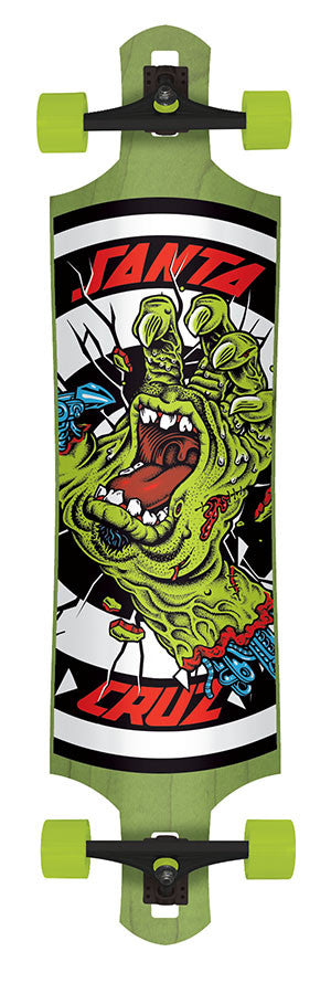 Santa Cruz Rob Hand Foot Stop Drop Thru Cruzer - Green/Black - 10in x 40in - Complete Skateboard