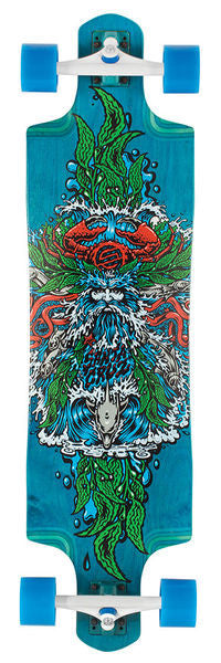 Santa Cruz Sea God Cruz Control Longboard Cruzer - Blue - 9.9in x 38.38in - Complete Skateboard
