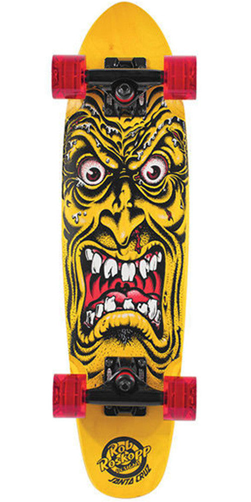 Santa Cruz Sidewalk Screamer Rob Face Cruzer - Yellow - 6.4in x 25.3in - Complete Skateboard
