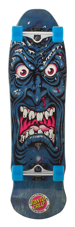 Santa Cruz Monster Rob Face Cruzer - Blue -10.7in x 36.3in - Complete Skateboard