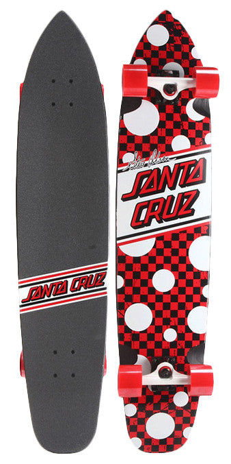 Santa Cruz Olson Cruzer - Red/White/Black - 8.6in x 40in - Complete Skateboard