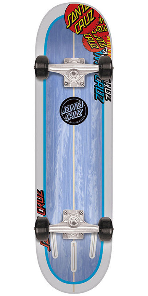Santa Cruz Landshark Popsicle Sk8 - Blue/White - 8.0in x 31.6in - Complete Skateboard