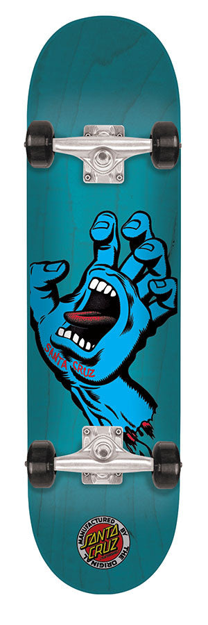 Santa Cruz Screaming Hand Seven Six - Blue - 7.6in x 31.5in - Complete Skateboard