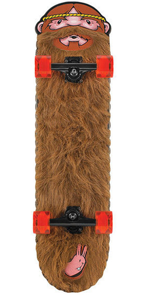 Santa Cruz Jeremy Fish LTD Weird Beard Cruzer - Brown - 8.56in x 32.4in - Complete Skateboard