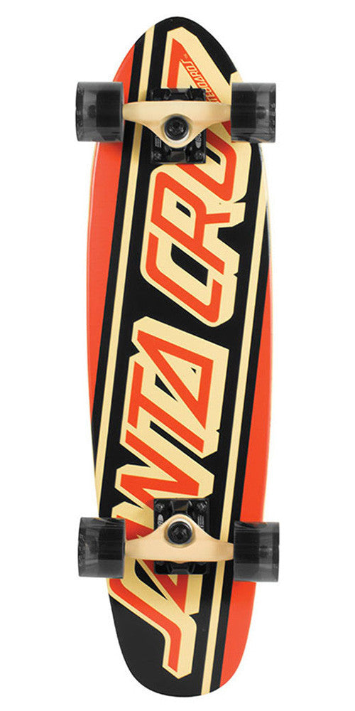 Santa Cruz Flex Strip Cruzer - Orange/Black - 6.98in x 26.9in - Complete Skateboard