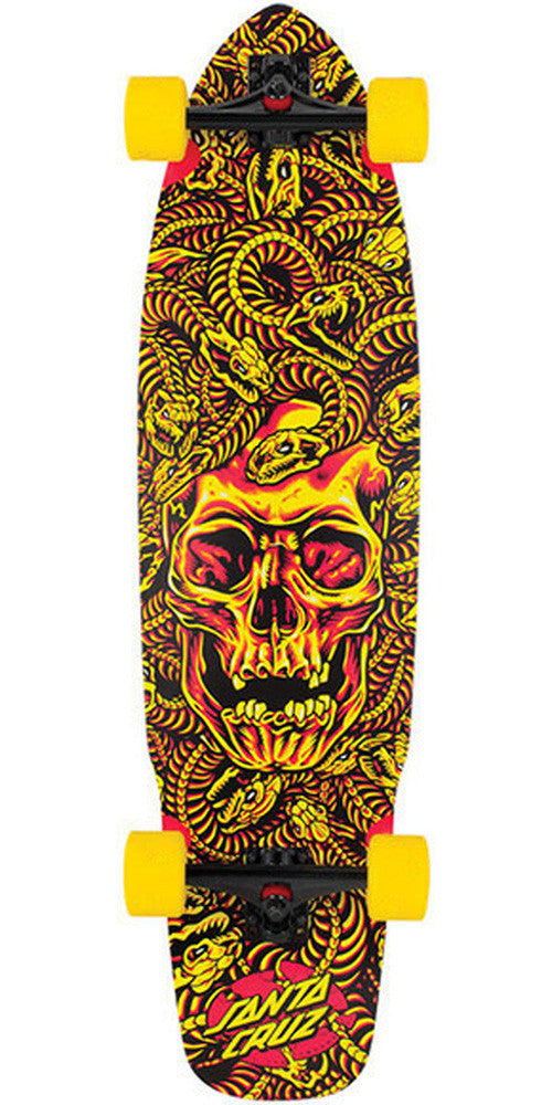 Santa Cruz Medusa Flex Tech Cruzer - Yellow - 9.72in x 37.78in - Complete Skateboard