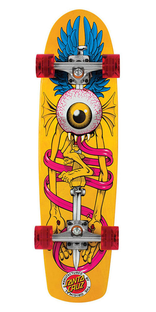 Santa Cruz Flying Eye Cruzer - Yellow - 8.2in x 30.7in - Complete Skateboard