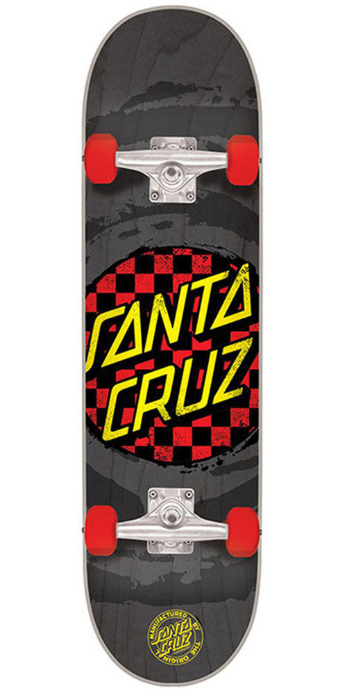 Santa Cruz Check Dot Mini Sk8 - Black - 7.0in x 29.2in - Complete Skateboard