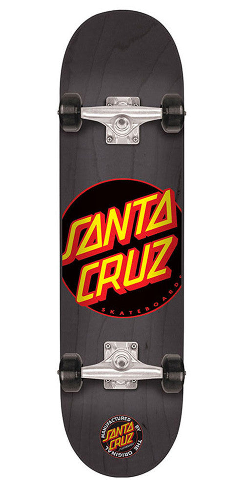 Santa Cruz Black Dot Sk8 - Black - 8.2in x 31.9in - Complete Skateboard