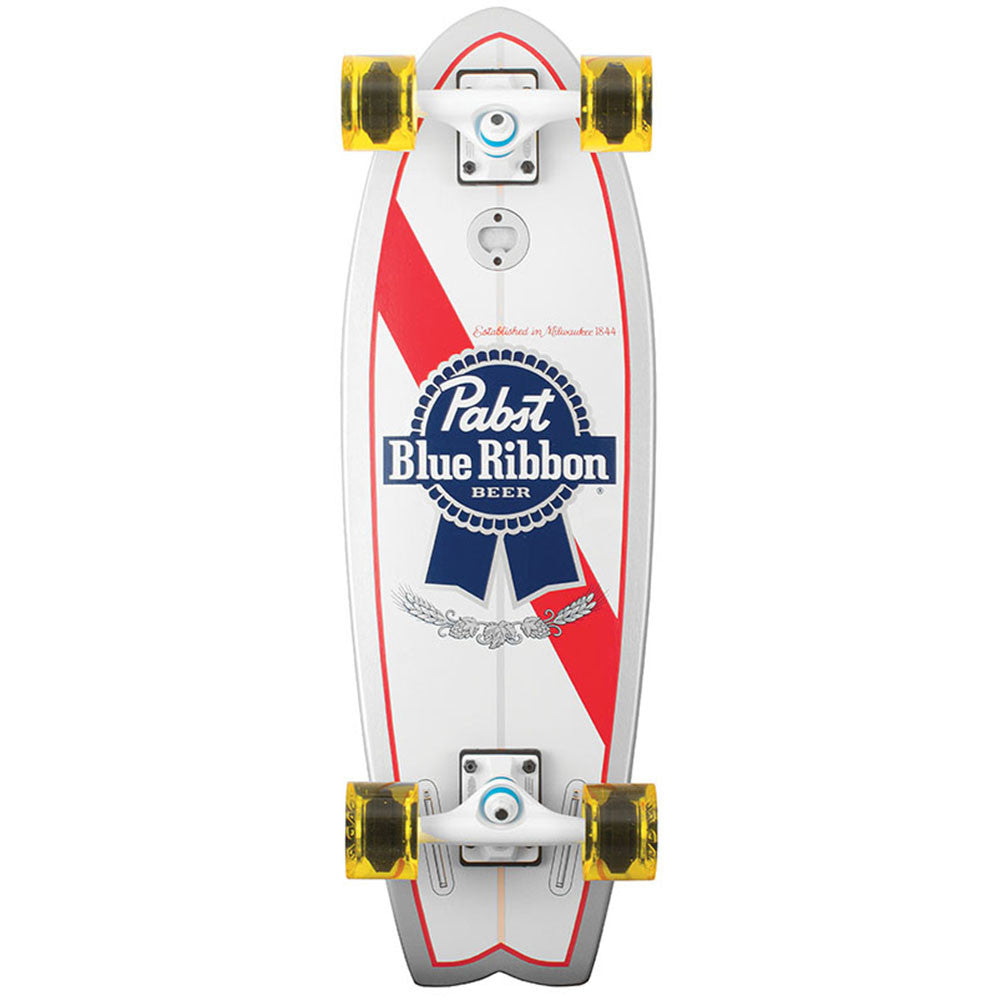 Santa Cruz PBC PBR Land Shark Cruzer - White - 8.8in x 27.7in - Complete Skateboard