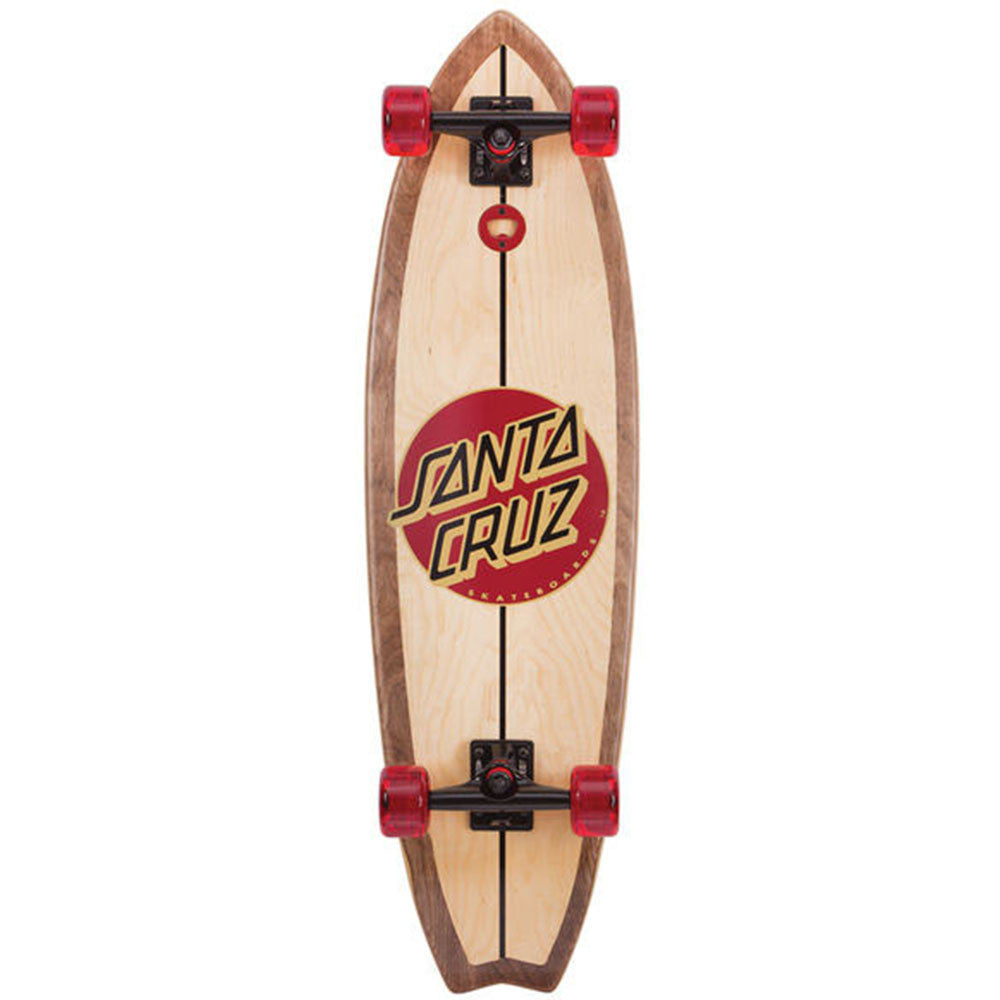 Santa Cruz Woody Shark Light Cruzer - Natural - 10.0in x 36.0in - Complete Skateboard