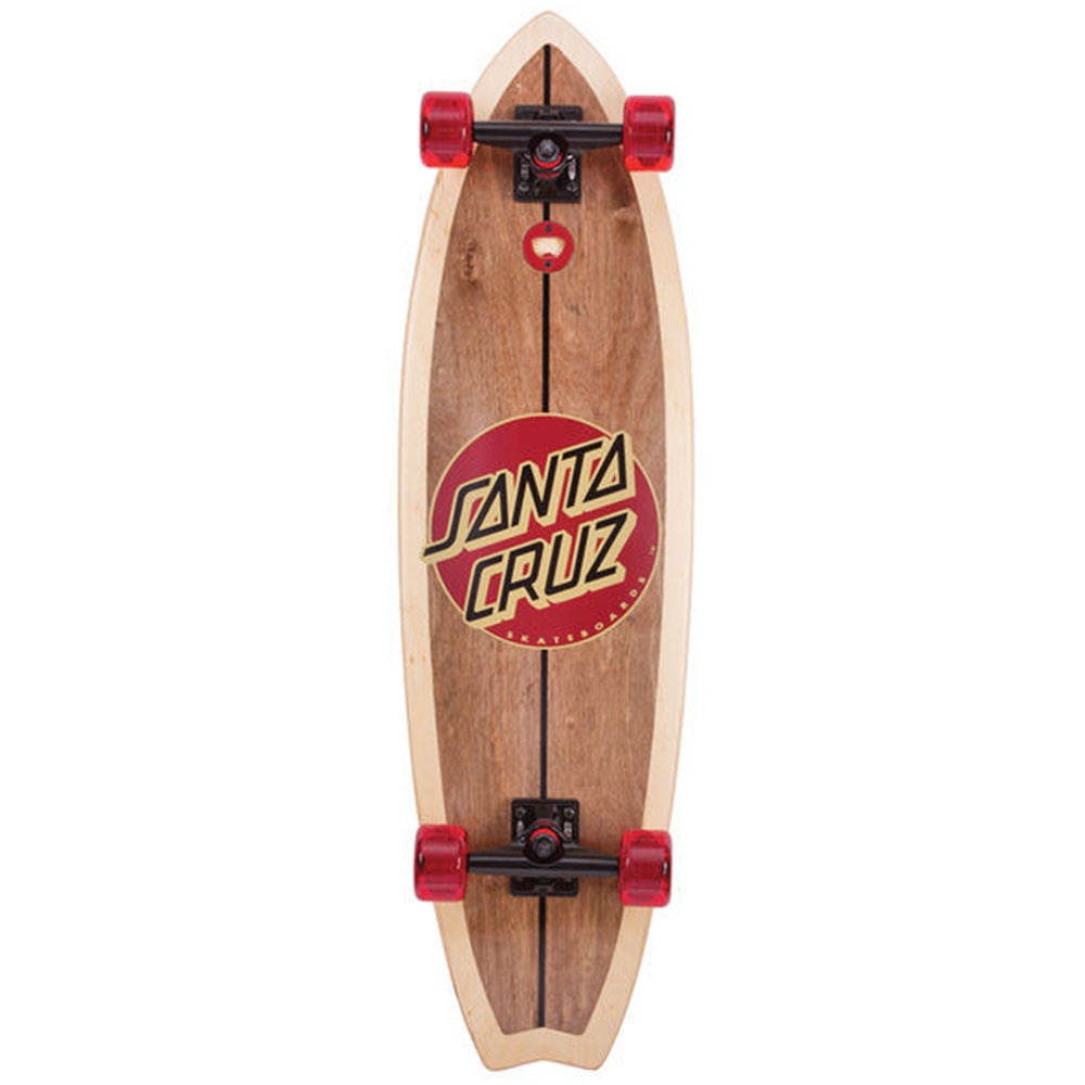 Santa Cruz Woody Shark Dark Cruzer - Natural - 10.0in x 36.0in - Complete Skateboard