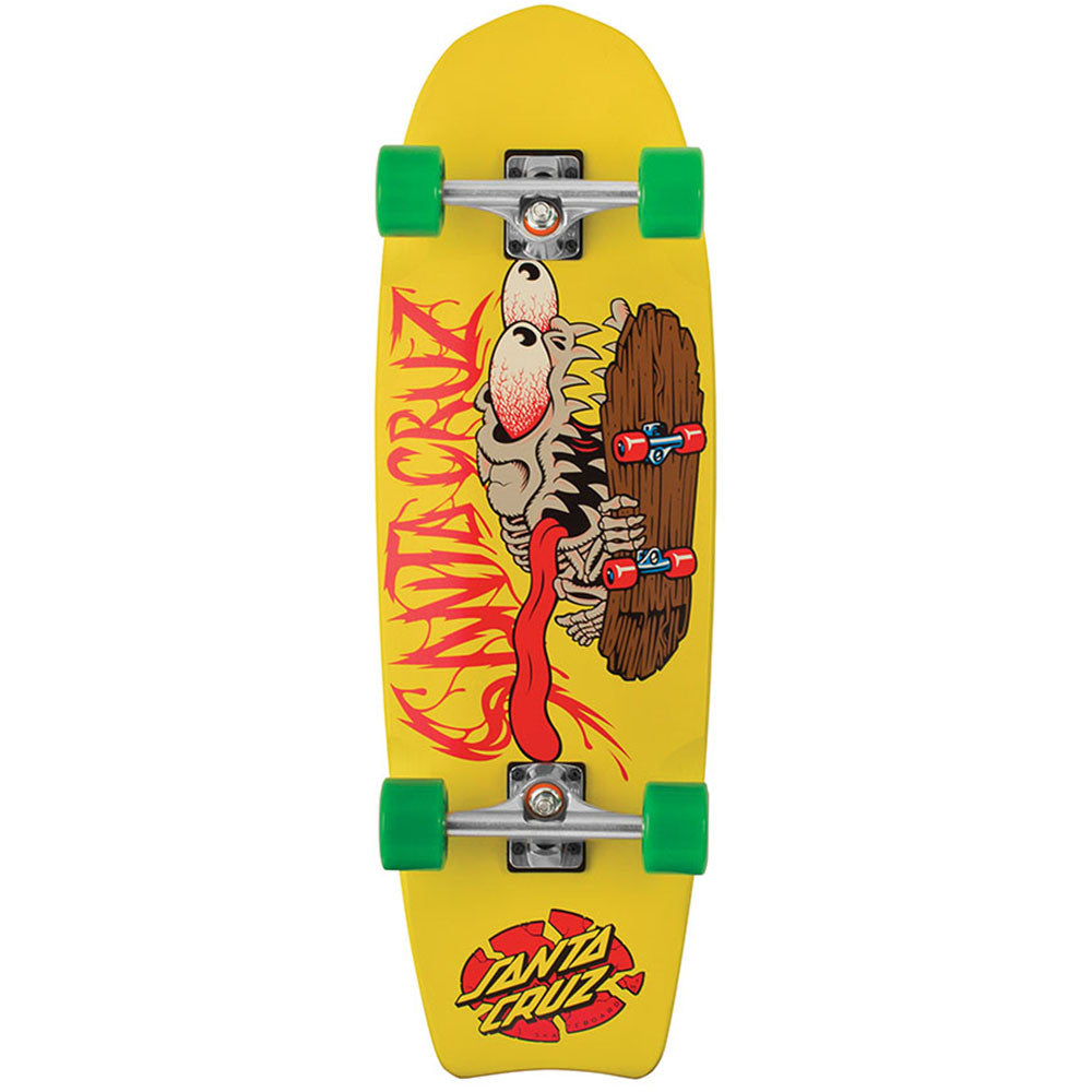 Santa Cruz Bone Slasher Cruzer - Yellow - 9.75in x 30.8in - Complete Skateboard