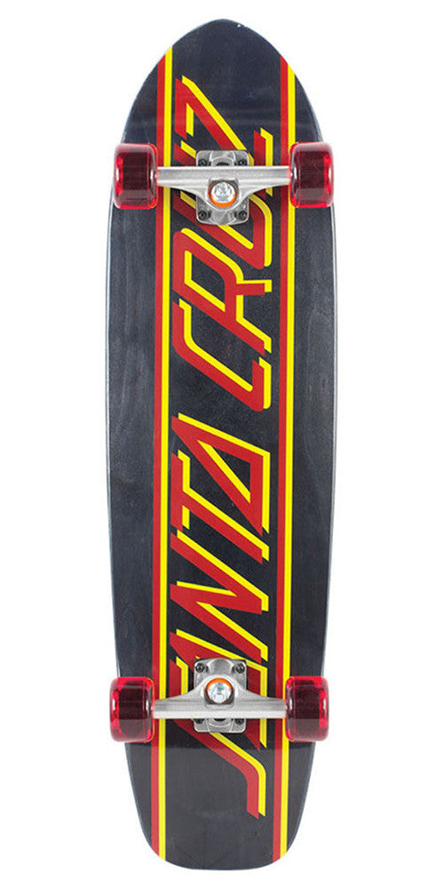 Santa Cruz Classic Strip Jammer Large Cruzer - Black - 9.42in x 35.04in - Complete Skateboard