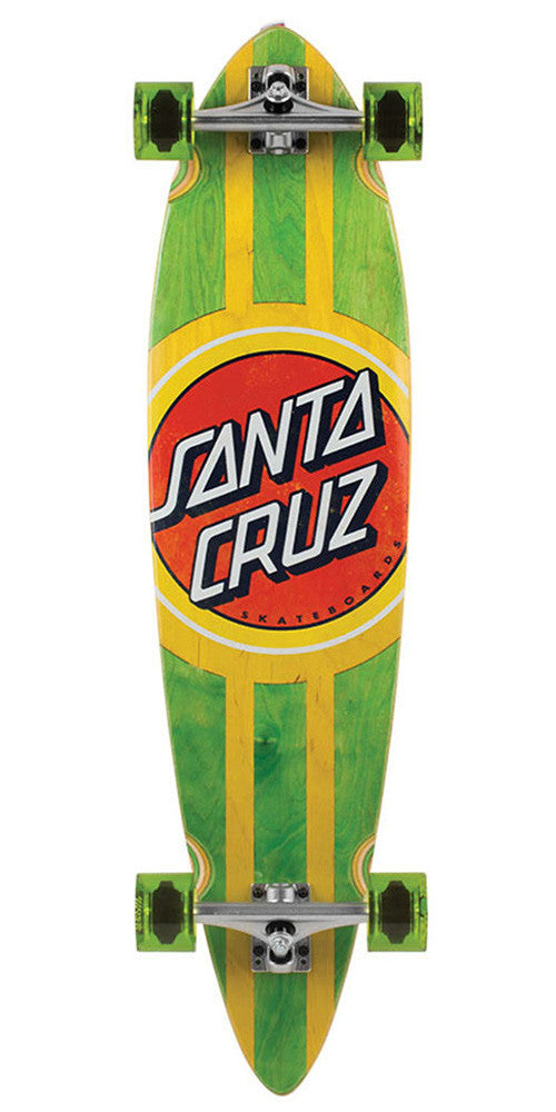 Santa Cruz Classic Dot Pintail Cruzer - Green/Yellow - 9.58in x 39.0in - Complete Skateboard
