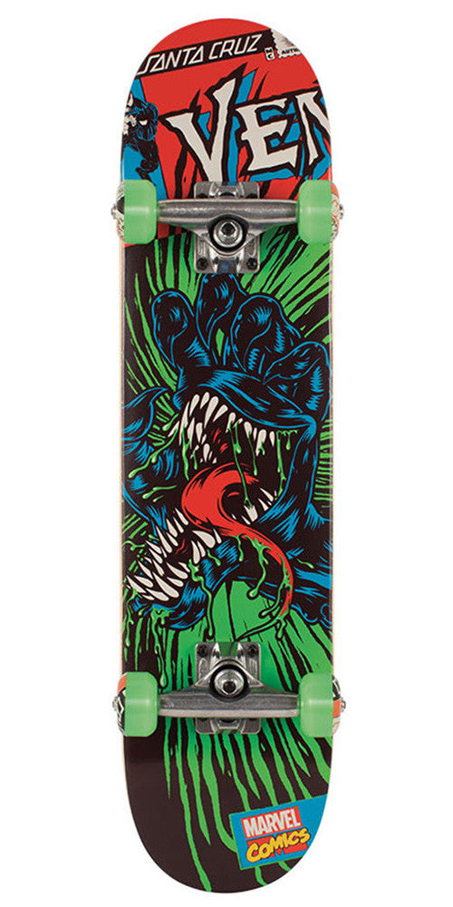 Santa Cruz Marvel Venom Hand Mini Sk8 - Black - 7.0in x 29.2in - Complete Skateboard