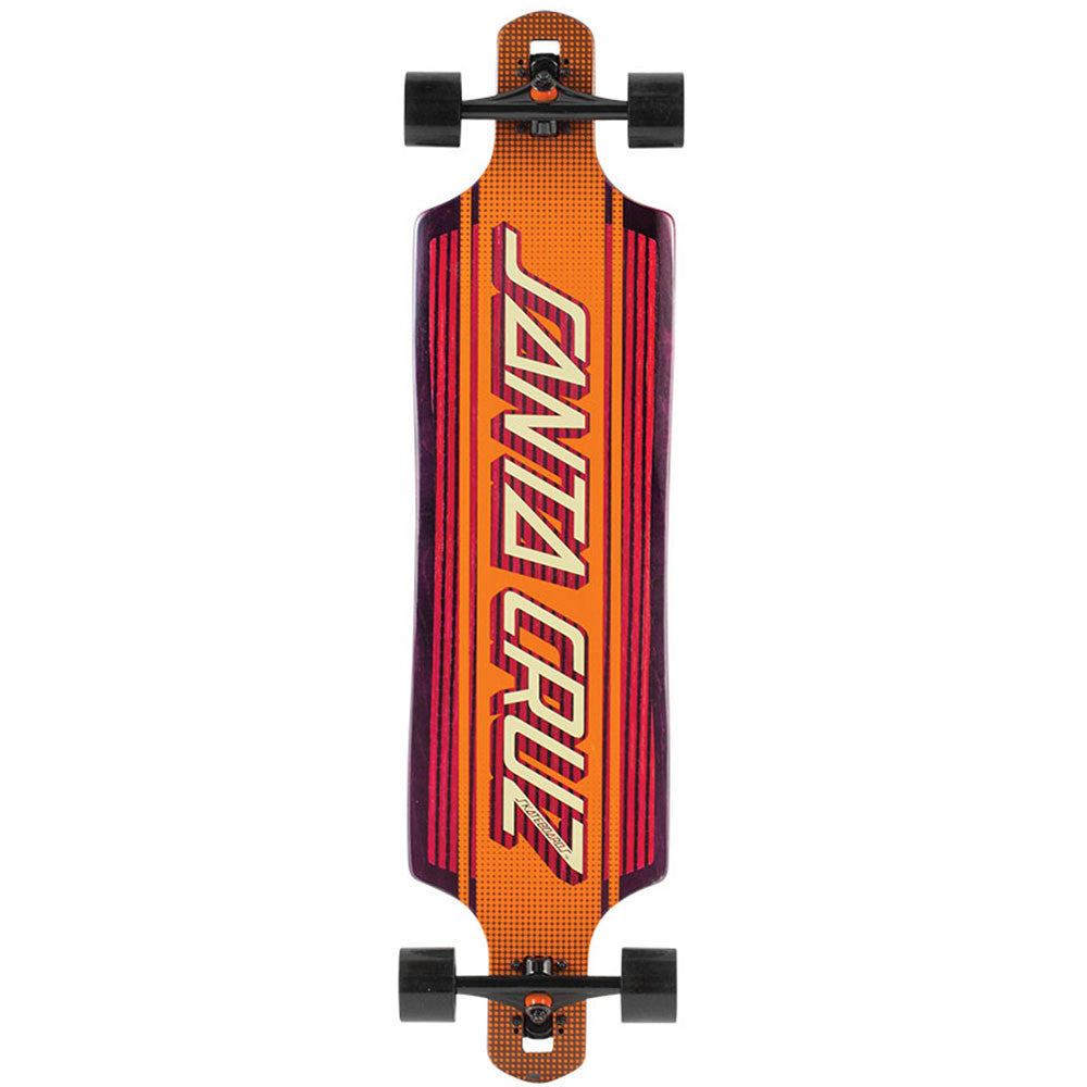 Santa Cruz Strip Inlay Drop Thru Cruzer - Orange - 10.0in x 40.0in - Complete Skateboard