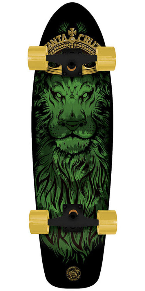 Santa Cruz Jammer Lion God Cruzer - Black - 7.4in x 29.1in - Complete Skateboard