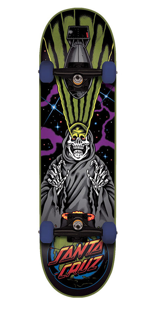 Santa Cruz Armageddon Regular Sk8 - Black - 7.9in x 31.7in - Complete Skateboard
