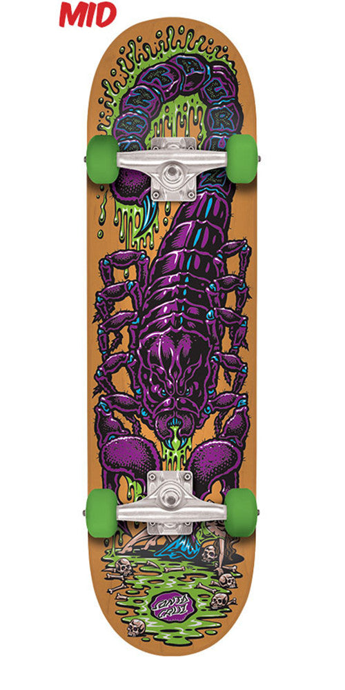 Santa Cruz Scorpion Mid Sk8 - Multi - 7.25in x 29.9in - Complete Skateboard