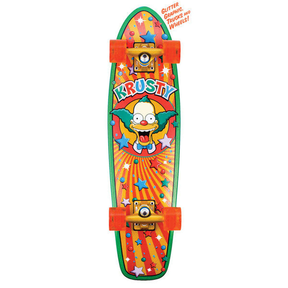 Santa Cruz Simpsons Krusty Brand Kruzer - Multi - 7.4in x 29.1in - Complete Skateboard