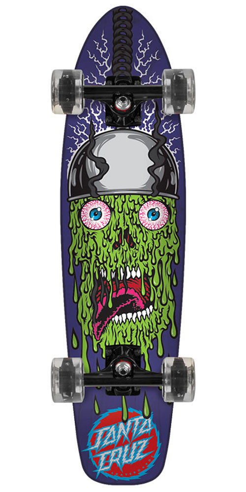 Santa Cruz Jammer Execution w/ Disco Balls Wheels - Purple/Green - 7.4in x 29.1in - Complete Skateboard