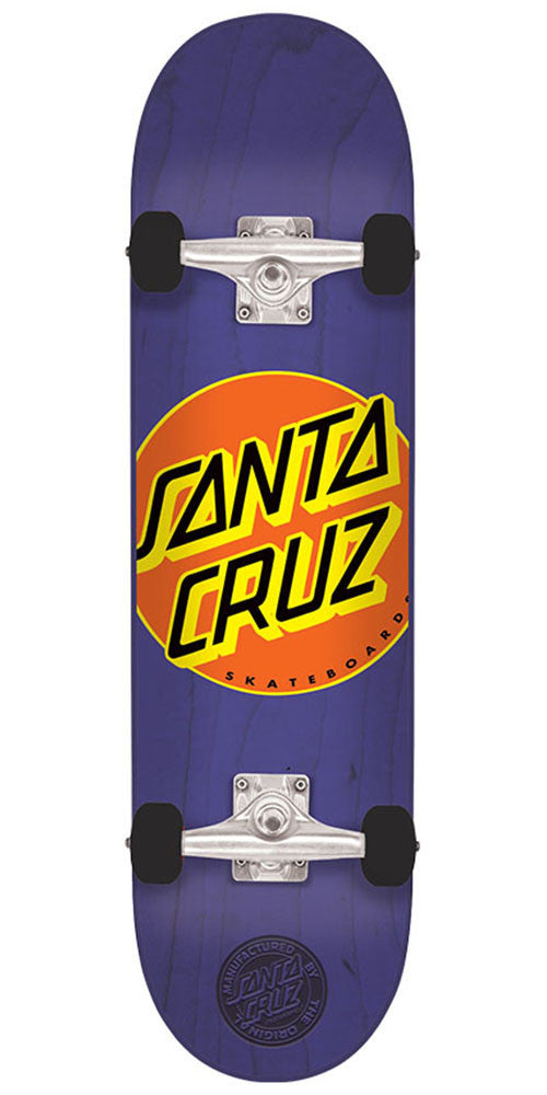 Santa Cruz Classic Dot Mini Sk8 - Purple - 7.0in x 29.2in - Complete Skateboard