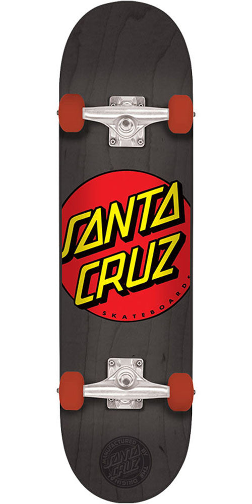 Santa Cruz Classic Dot Regular Sk8 - Black - 8.2in x 31.69in - Complete Skateboard
