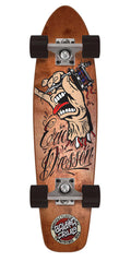 Santa Cruz Dressen Tattoo Hand Jammer Cruzer - Brown - 7.4in x 29.1in  - Complete Skateboard