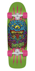 Santa Cruz Freak 80s Cruzer Cruzer - Green - 9.99in x 32.3in  - Complete Skateboard