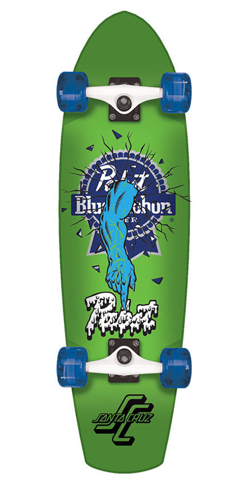 Santa Cruz PBR Rob One Street Shark - Green - 8.8in x 30.97in  - Complete Skateboard