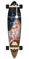 Santa Cruz Star Wars A New Hope Poster Pintail - Multi - 9.58in x 39.0in  - Complete Skateboard