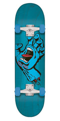 Santa Cruz Screaming Hand Regular - Blue - 8.0in x 31.6in - Complete Skateboard