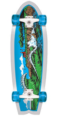 Santa Cruz The Point Land Shark - Multi - 8.8in x 27.7in - Complete Skateboard