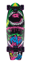 Santa Cruz Retro Neon Land Shark - Multi - 8.8in x 27.7in - Complete Skateboard