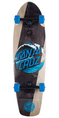 Santa Cruz Wave Dot Street Shark - Black/Natural - 8.8in x 30.97in - Complete Skateboard